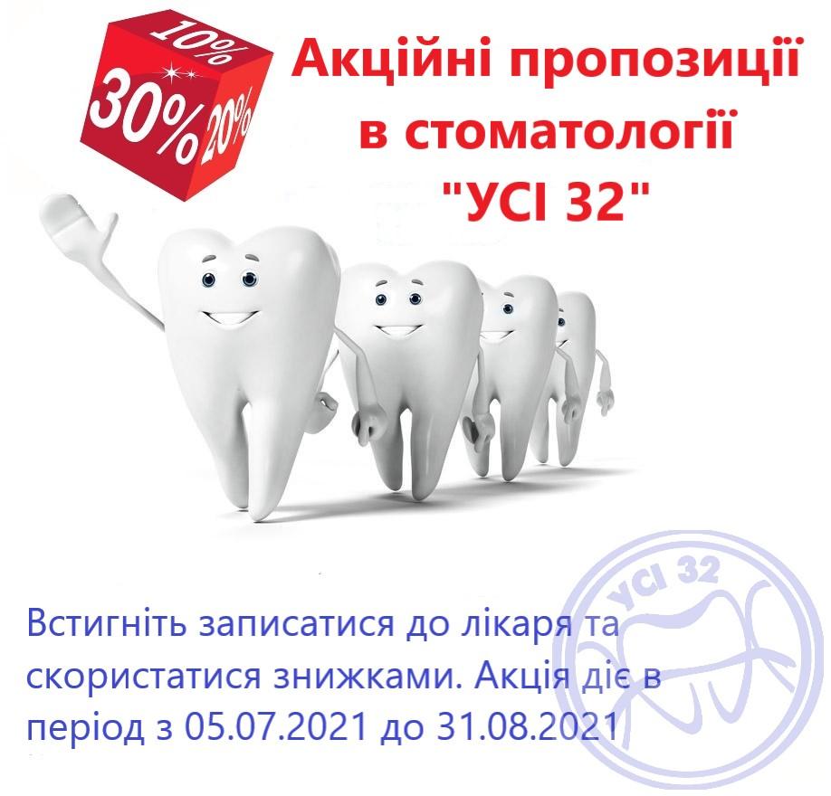 Акційні пропозиції на стоматологічні послуги